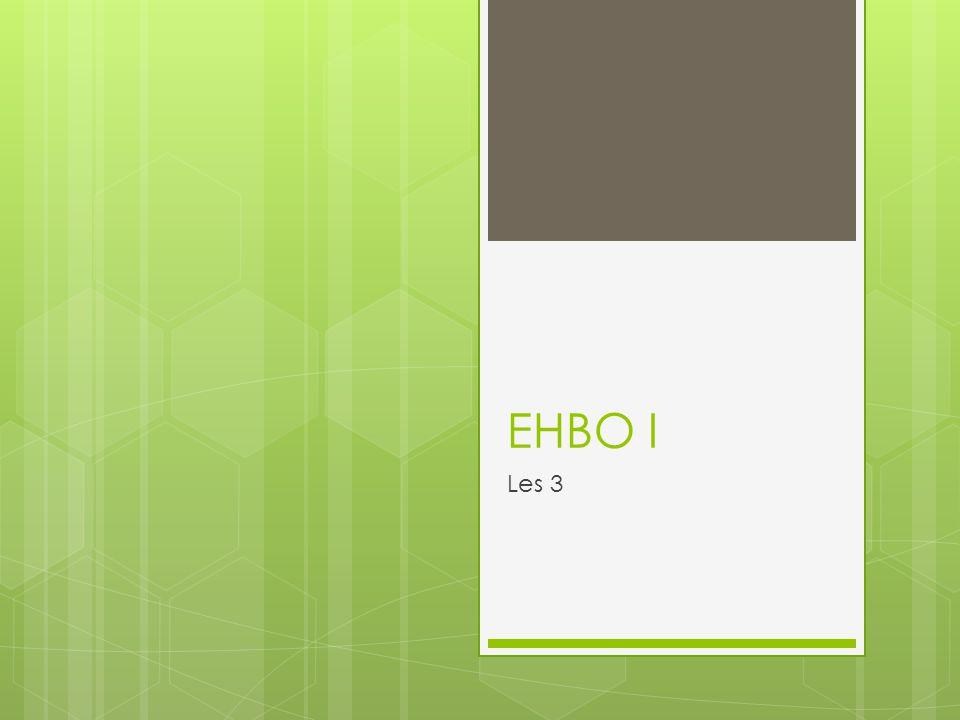 EHBO I Les 3