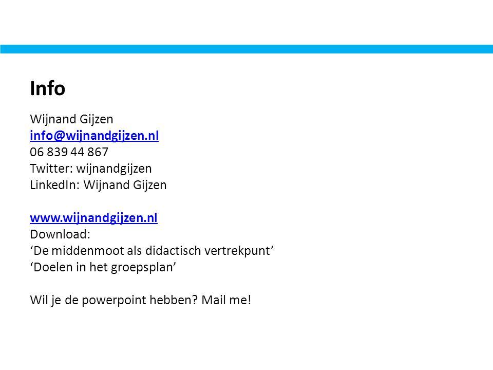 Info Wijnand Gijzen info@wijnandgijzen.nl 06 839 44 867 Twitter: wijnandgijzen LinkedIn: Wijnand Gijzen www.wijnandgijzen.nl Download: 'De middenmoot