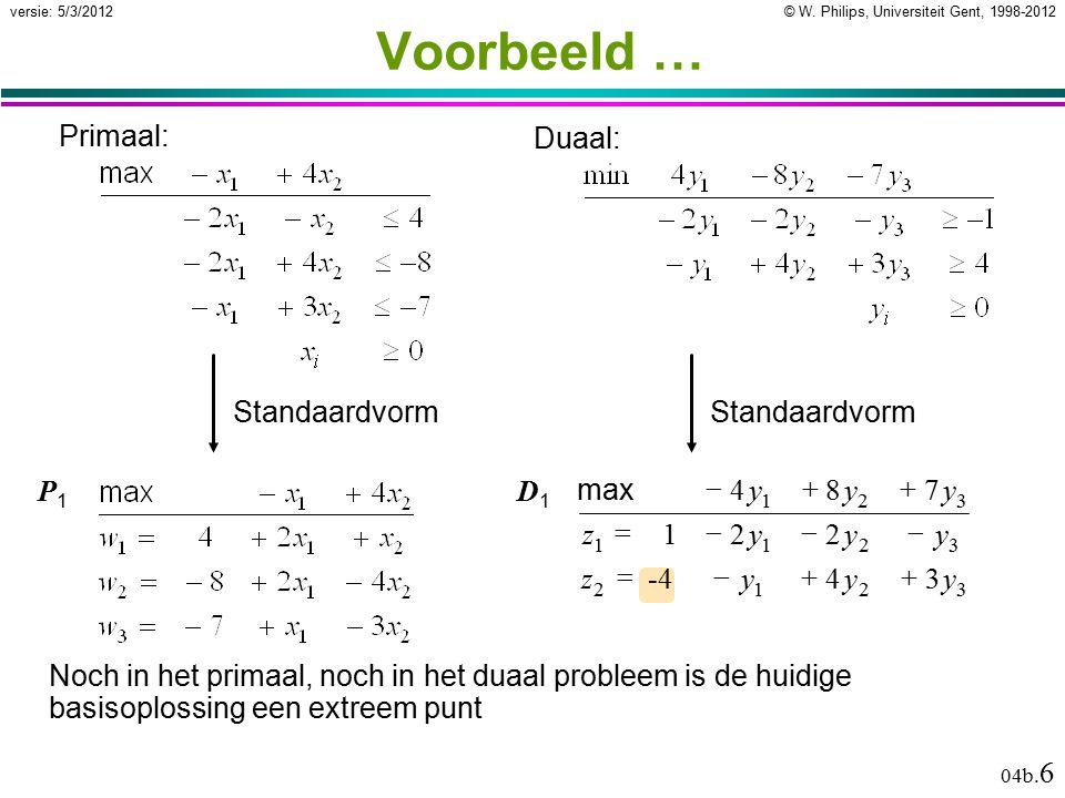 © W.Philips, Universiteit Gent, 1998-2012versie: 5/3/2012 04b.