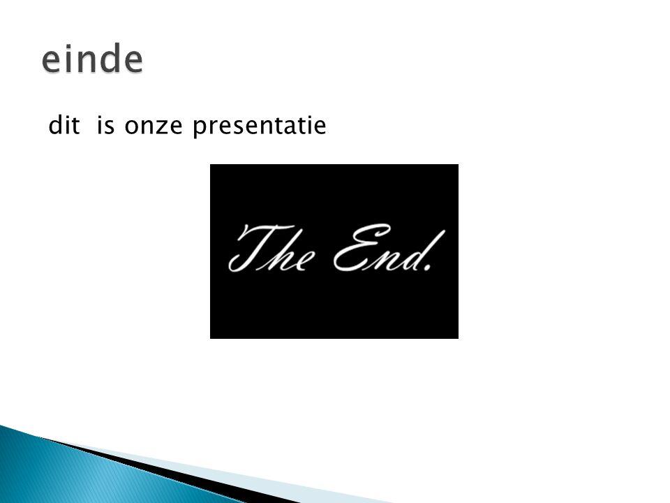 dit is onze presentatie