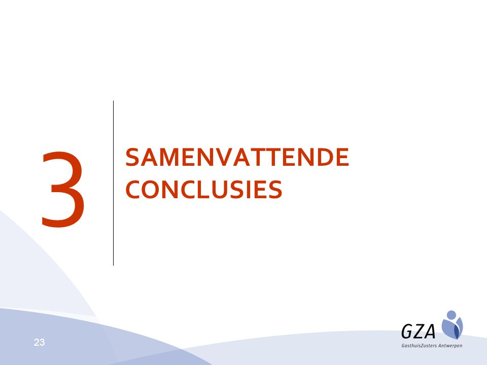 SAMENVATTENDE CONCLUSIES 3 23