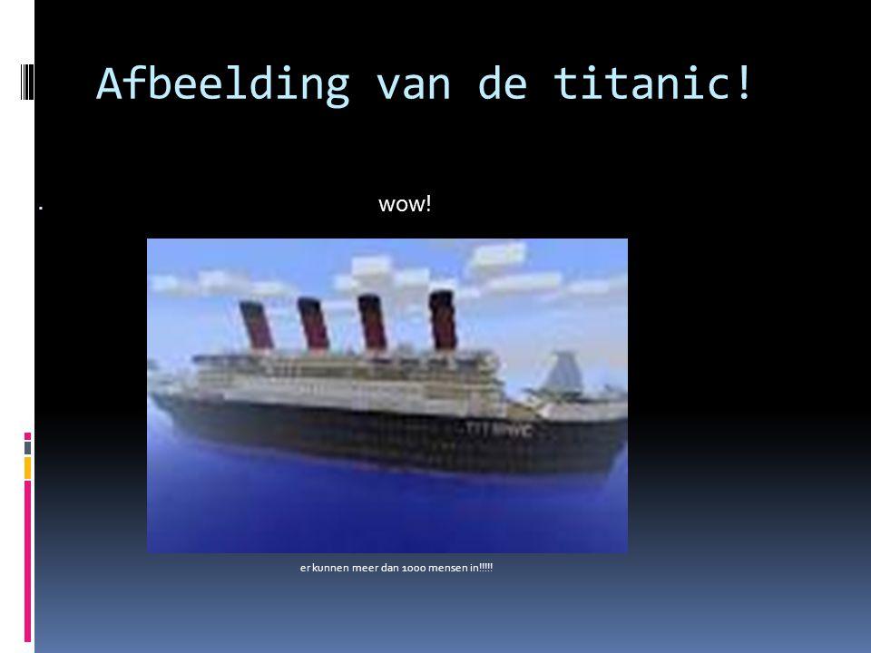 Afbeelding van de titanic!  wow! er kunnen meer dan 1000 mensen in!!!!!