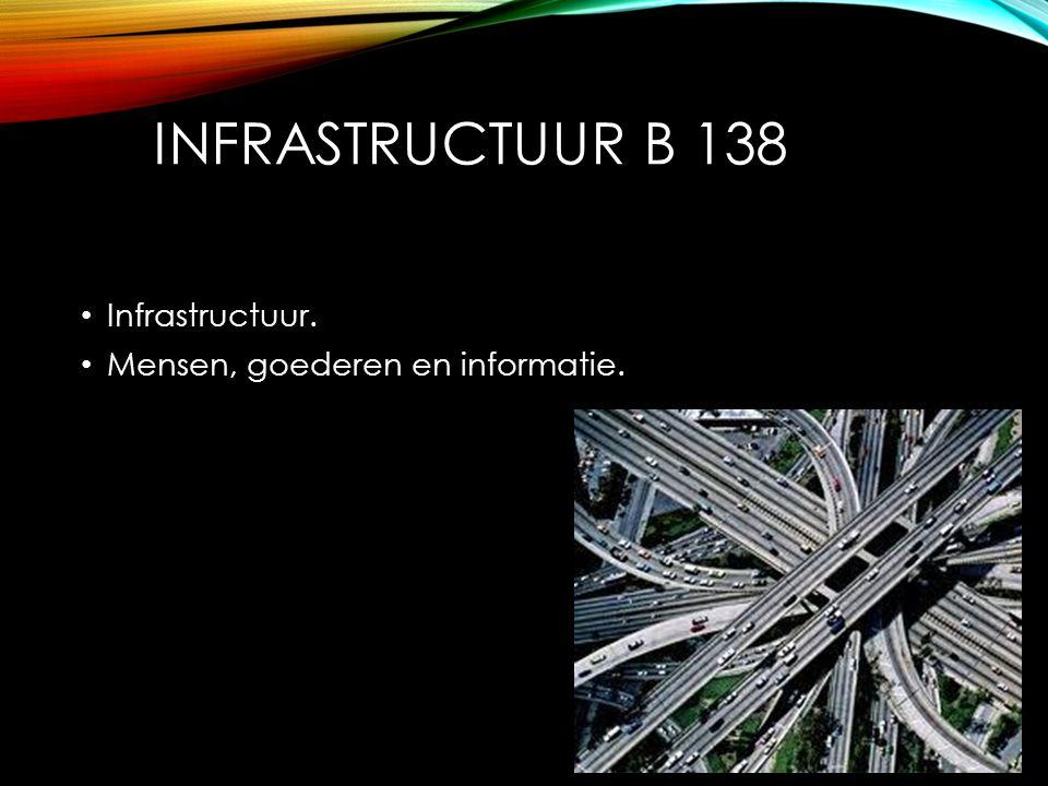 INFRASTRUCTUUR B 138 Infrastructuur. Mensen, goederen en informatie.