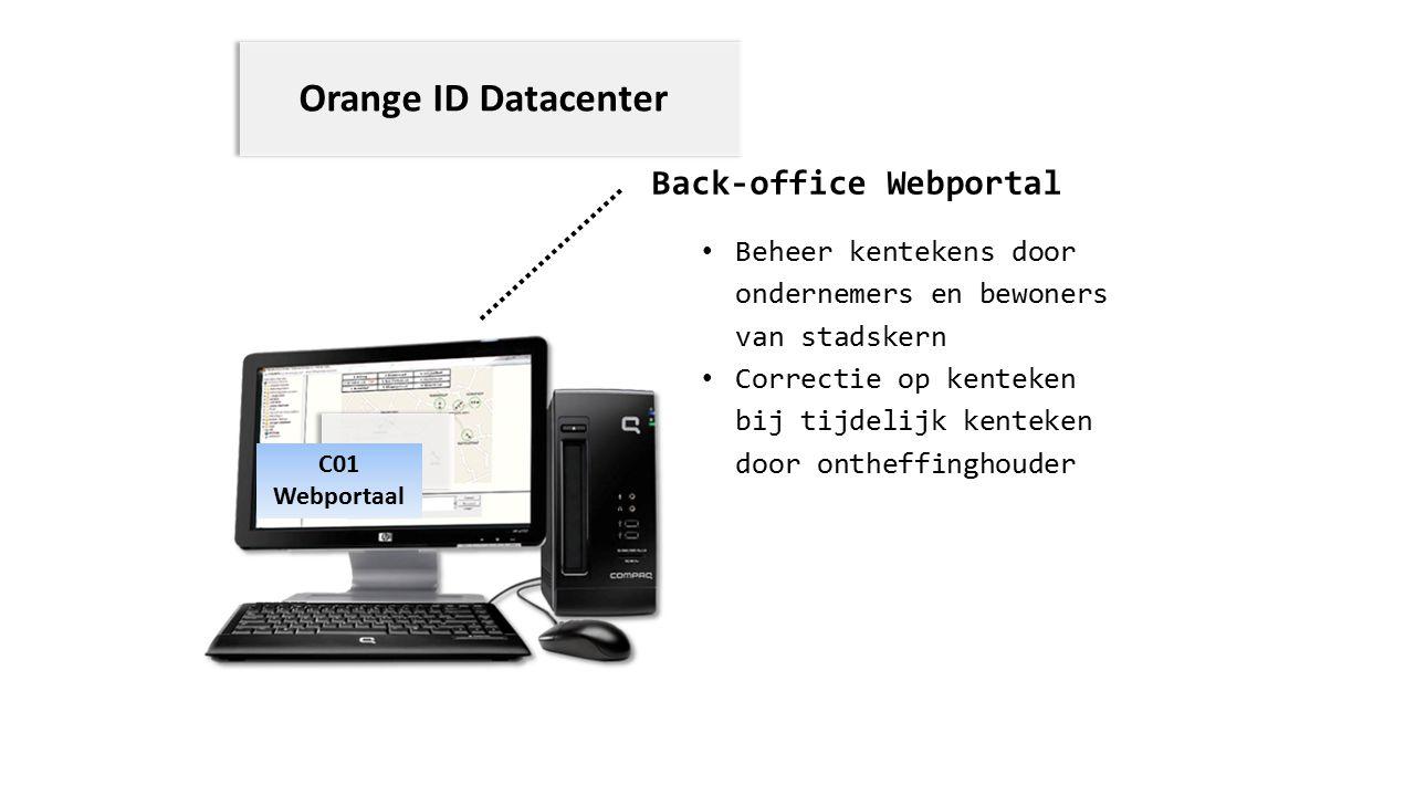 Back-office Webportal C01 Webportaal Beheer kentekens door ondernemers en bewoners van stadskern Correctie op kenteken bij tijdelijk kenteken door ont