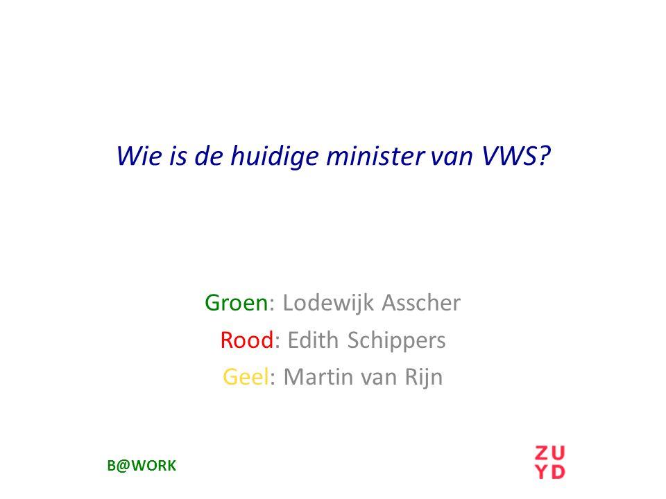 Wie is de huidige minister van VWS.
