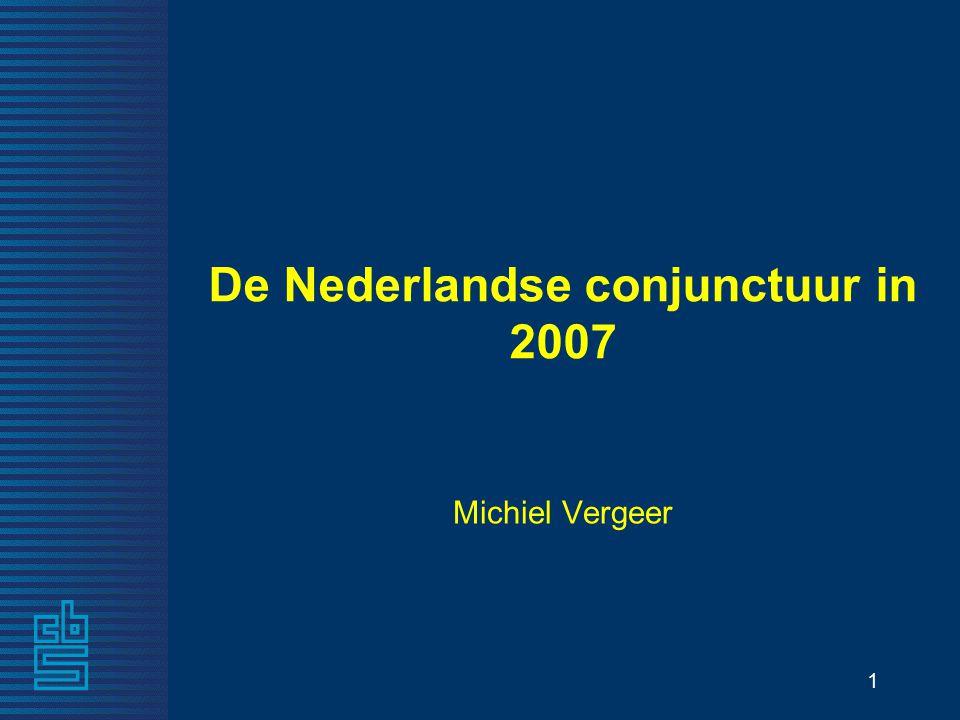 1 De Nederlandse conjunctuur in 2007 Michiel Vergeer