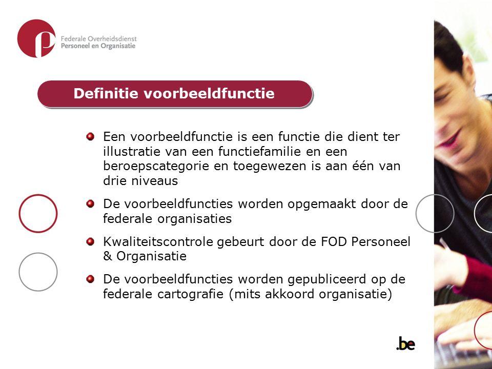Een voorbeeldfunctie is een functie die dient ter illustratie van een functiefamilie en een beroepscategorie en toegewezen is aan één van drie niveaus