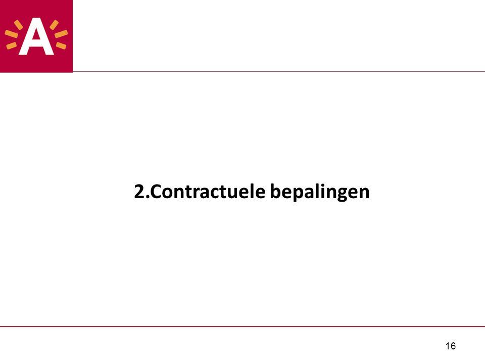 16 2.Contractuele bepalingen