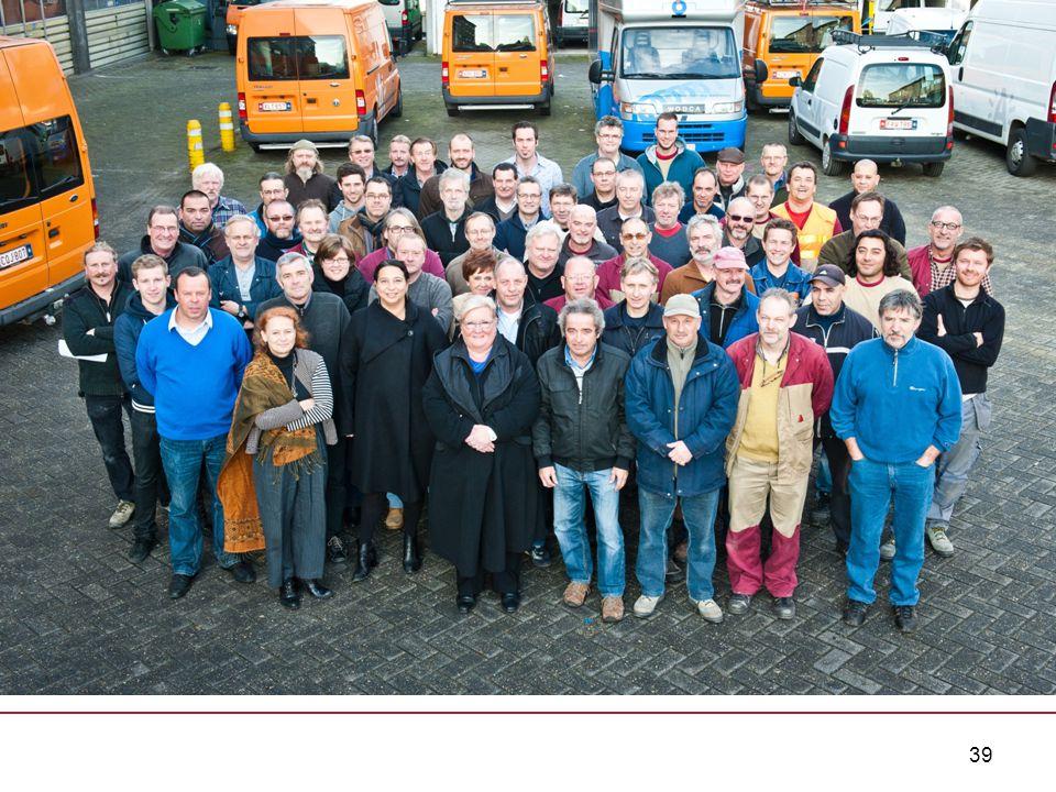 39 Werking WERKEN tussen 5.500 € EN 22.000 € CONSULENT TECHNIEK -Projecten - aanpassingen - planmatig onderhoud WERKEN boven de 22.000 € -Projectbureau Bouw 5.