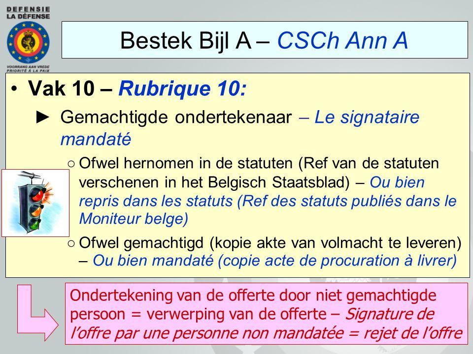 Vak 10 – Rubrique 10: ►Gemachtigde ondertekenaar – Le signataire mandaté ○Ofwel hernomen in de statuten (Ref van de statuten verschenen in het Belgisc