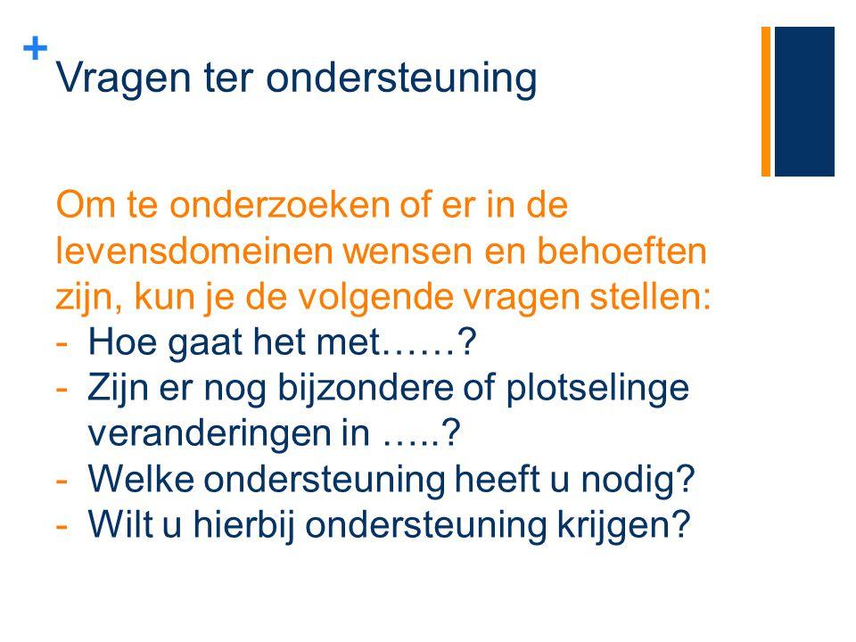 + Wat als de cliënt een indicatie heeft voor een laag zorgzwaartepakket 1.De cliënt krijgt een brief van het Zorgkantoor, alvorens de AWBZ indicatie verloopt, met de vraag een keuze te maken: -Thuis blijven wonen met ondersteuning en/of zorg vanuit de Wmo (gemeente) en de Zvw (zorgverzekeraar); -Opgenomen worden in een instelling op grond van de Wet langdurige zorg; -of helemaal geen zorg ontvangen 2.Keuze maken minimaal 8 weken voor die einddatum van de indicatie.