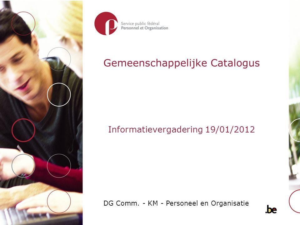 Gemeenschappelijke Catalogus DG Comm.