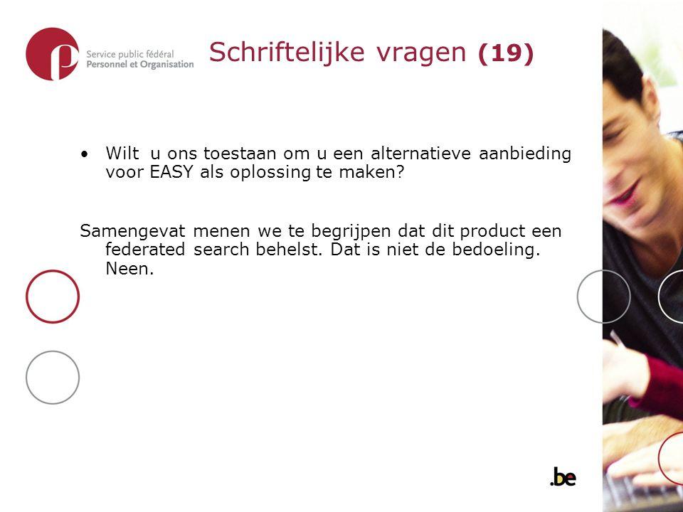 Wilt u ons toestaan om u een alternatieve aanbieding voor EASY als oplossing te maken.