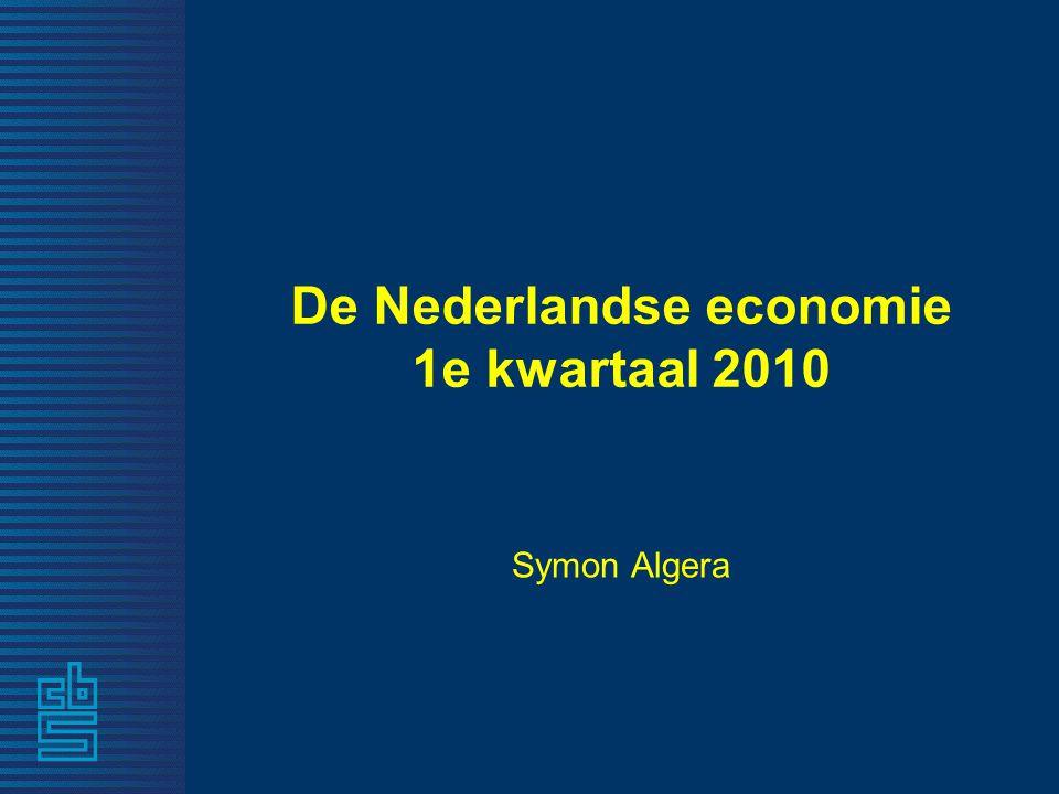De Nederlandse economie 1e kwartaal 2010 Symon Algera