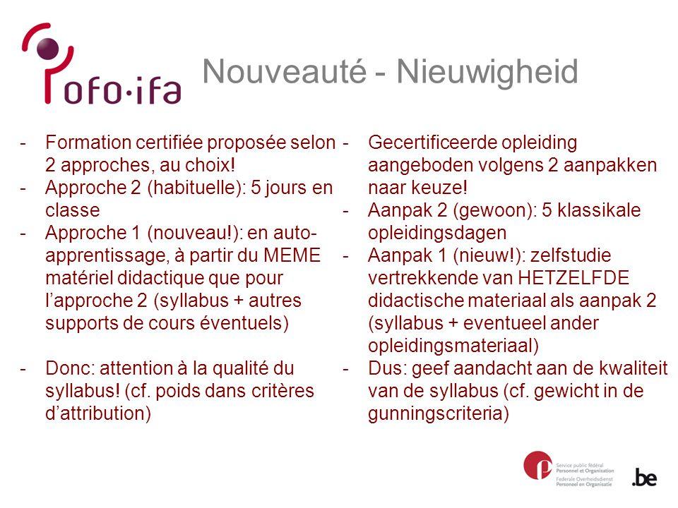 Nouveauté - Nieuwigheid -Gecertificeerde opleiding aangeboden volgens 2 aanpakken naar keuze.
