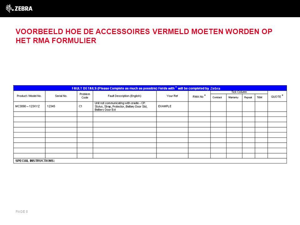 VERDERE INFORMATIE Voor verdere informatie over Comprehensive Coverage of voor assistentie met reparatie aanvragen, kunt u contact opnemen met: Customer Interaction Centre: emea.ccc@zebra.com Telefoon: Nederland: 020 2015 081 België: 0270 019 09 PAGE 9