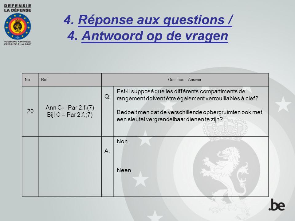4. Réponse aux questions / 4. Antwoord op de vragen NoRefQuestion - Answer 20 Ann C – Par 2.f.(7) Bijl C – Par 2.f.(7) Q: Est-il supposé que les diffé
