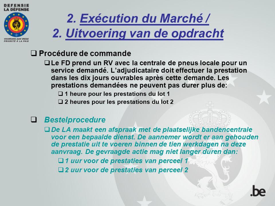 2.Exécution du Marché / 2.