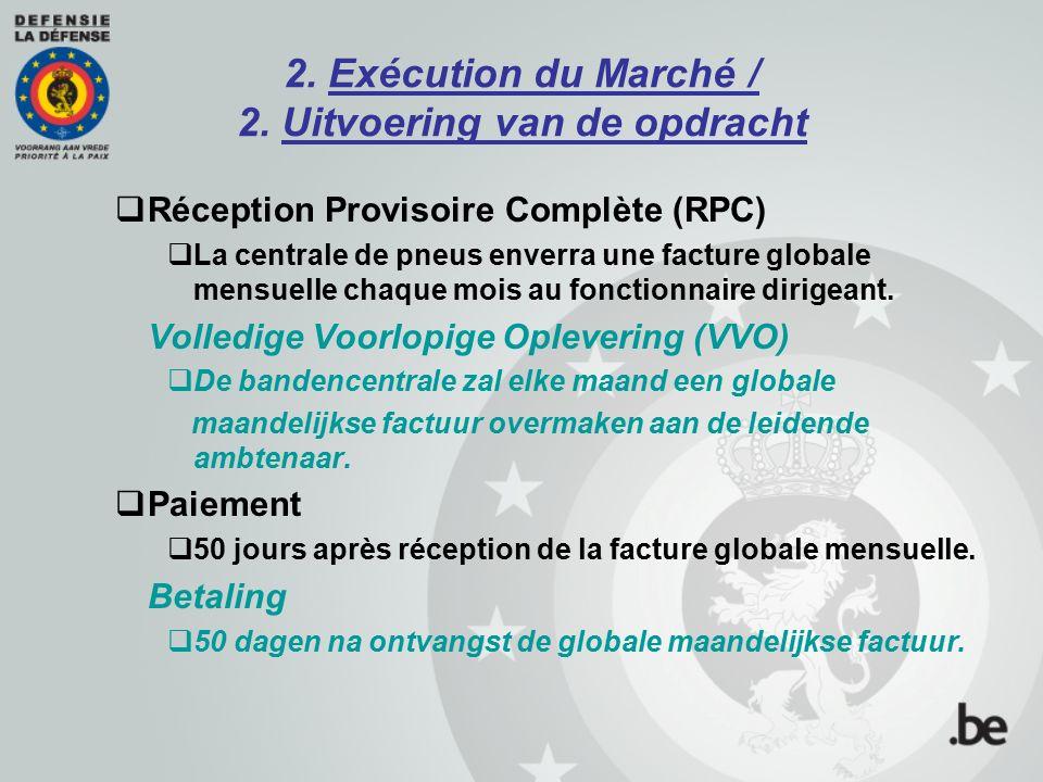 2. Exécution du Marché / 2. Uitvoering van de opdracht Borgtocht / Cautionnement