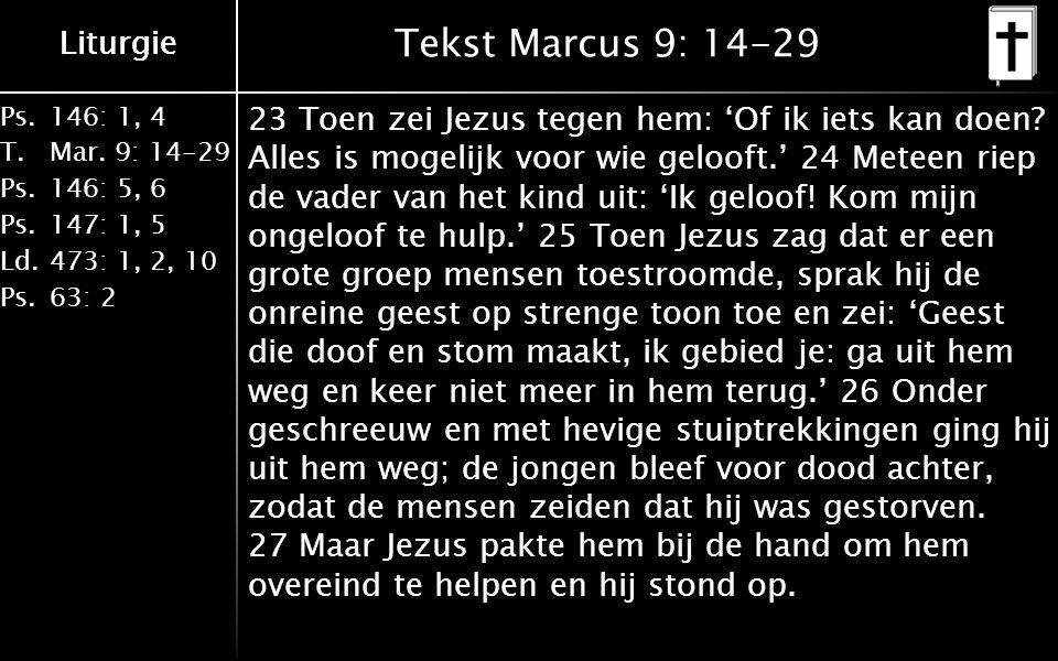 Liturgie Ps.146: 1, 4 T.Mar.