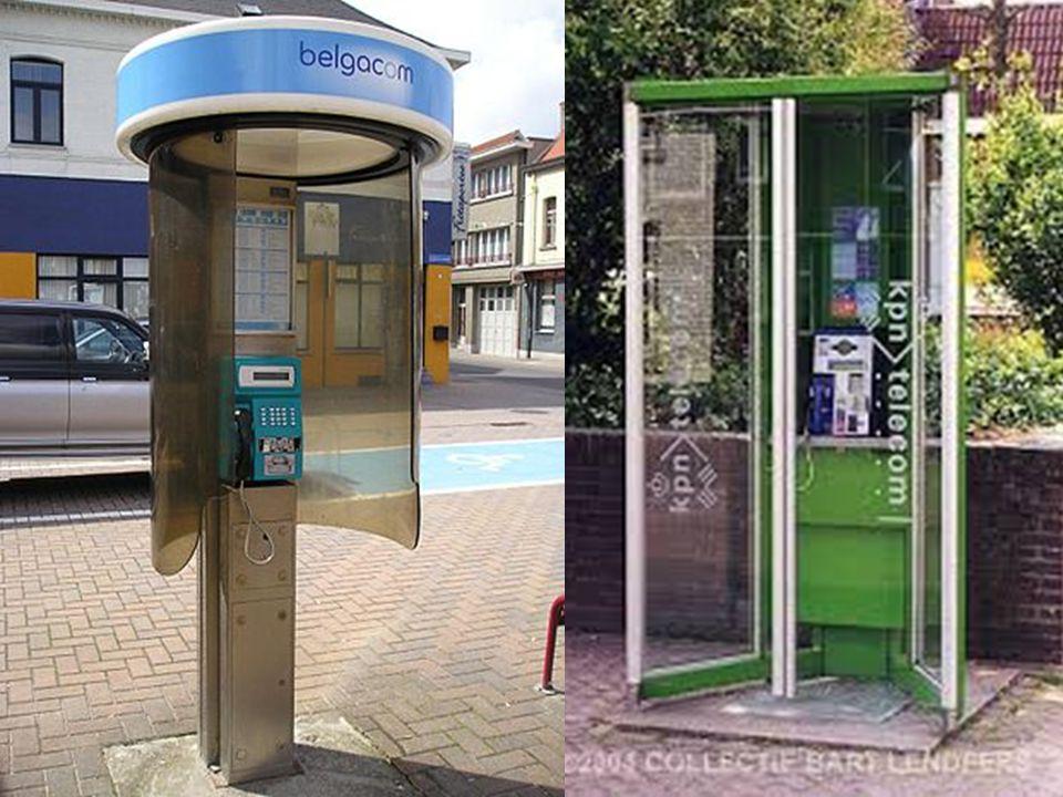 Overal in het straat- en stadsbeeld verschijnen de telefooncellen.