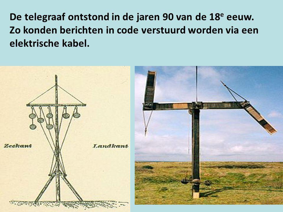 De telegraaf ontstond in de jaren 90 van de 18 e eeuw.