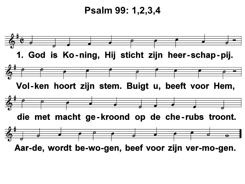 Psalm 99: 1,2,3,4