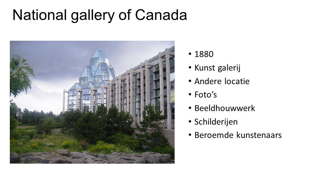 National gallery of Canada 1880 Kunst galerij Andere locatie Foto's Beeldhouwwerk Schilderijen Beroemde kunstenaars