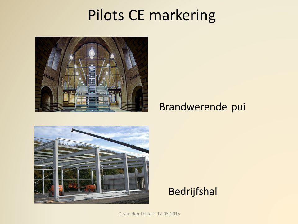 Pilots CE markering C. van den Thillart 12-05-2015 Bedrijfshal Brandwerende pui