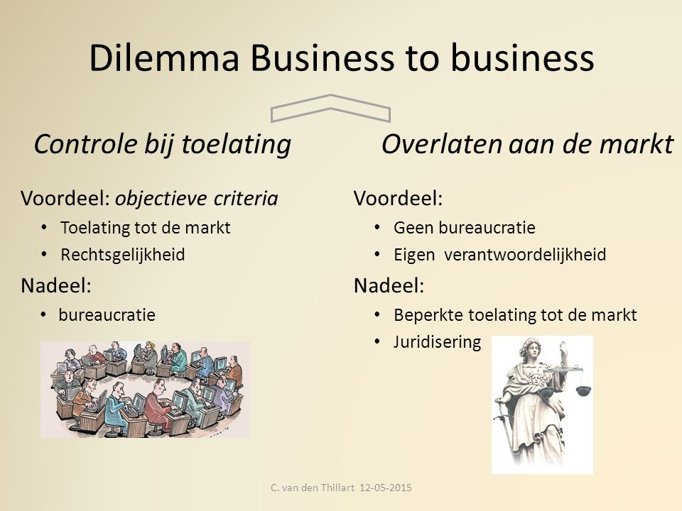 Dilemma Business to business C.