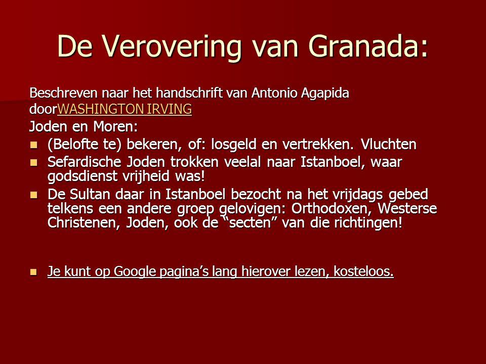 De Verovering van Granada: Beschreven naar het handschrift van Antonio Agapida doorWASHINGTON IRVING WASHINGTON IRVINGWASHINGTON IRVING Joden en Moren