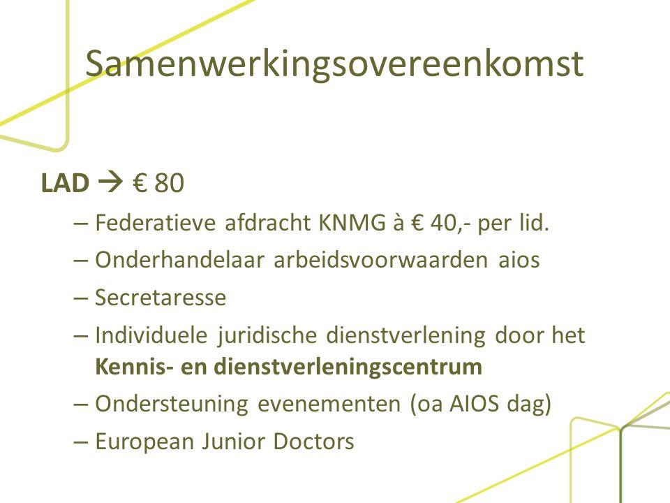 Samenwerkingsovereenkomst OMS  € 30 – Ondersteuning personeel: Ambtelijk secretaris (36 uur per week). Communicatieadviseur Ledenbeheerder / administ