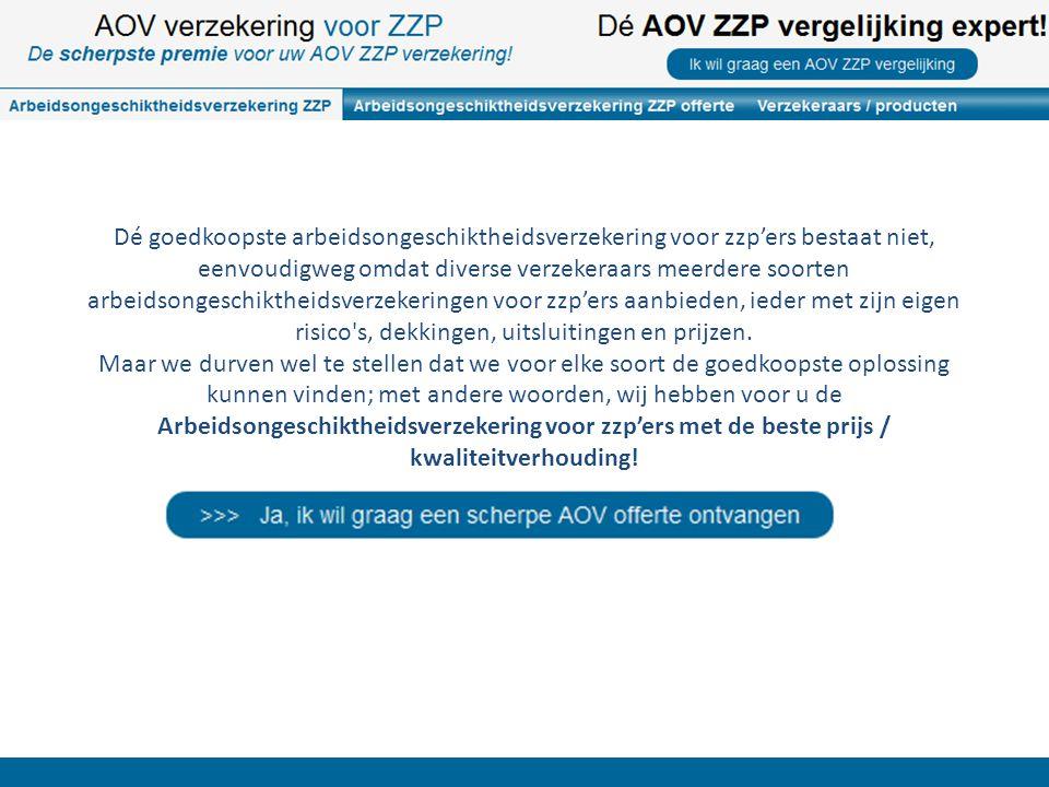 Er zijn grote verschillen tussen de aanbieders van arbeidsongeschiktheidsverzekeringen voor zzp-ers.