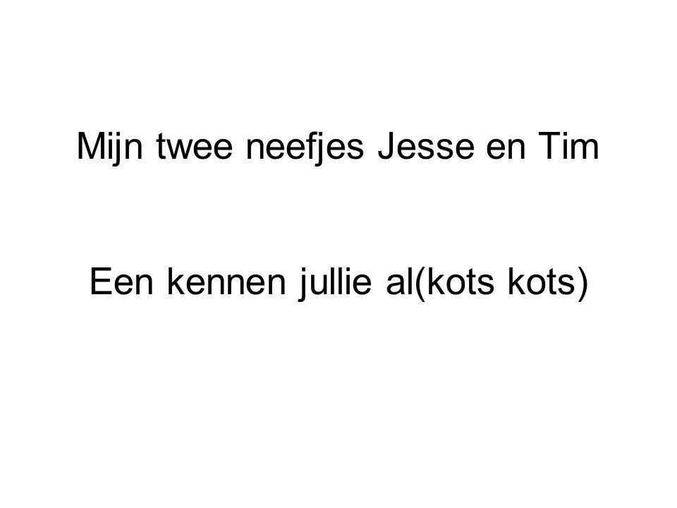 Mijn twee neefjes Jesse en Tim Een kennen jullie al(kots kots)