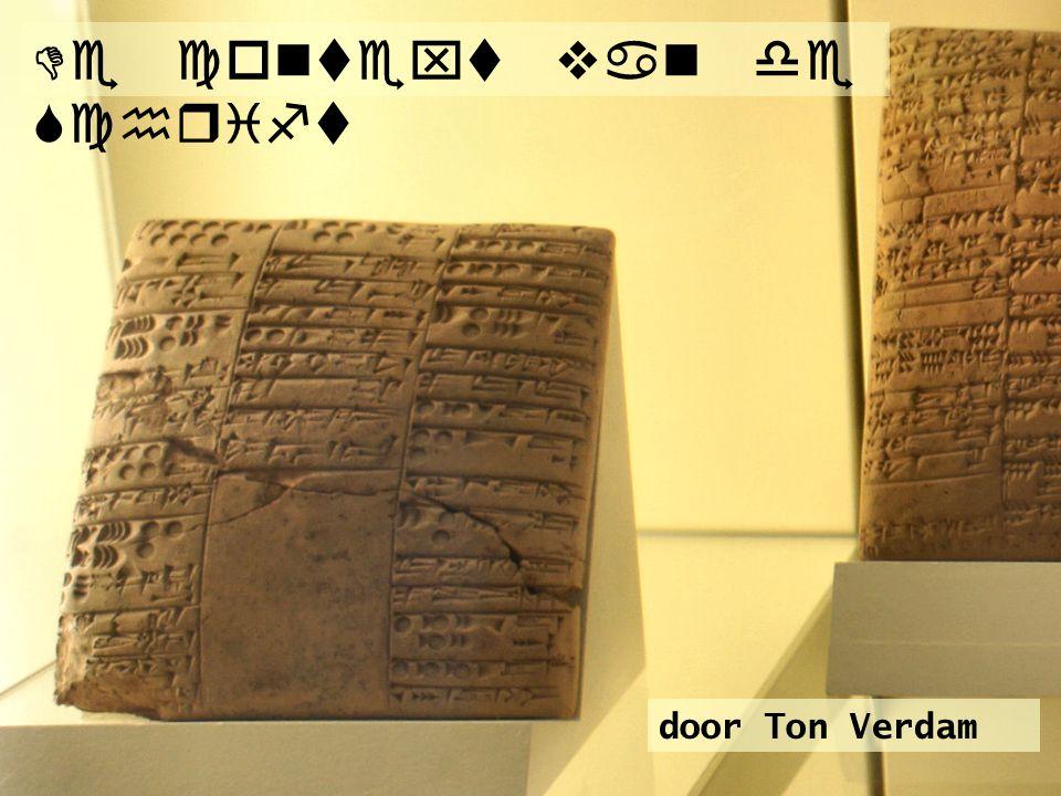 De context van de Schrift door Ton Verdam