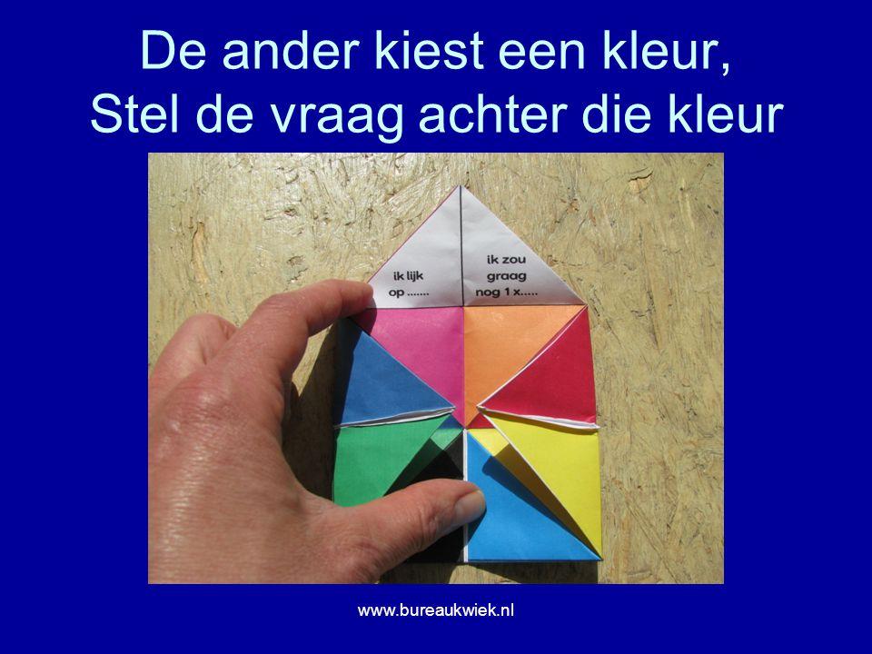 De ander kiest een kleur, Stel de vraag achter die kleur www.bureaukwiek.nl