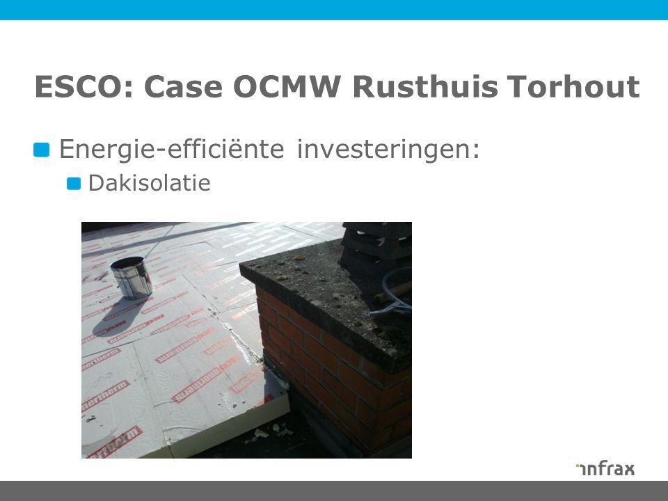 ESCO: Case OCMW Rusthuis Torhout Energie-efficiënte investeringen: Dakisolatie