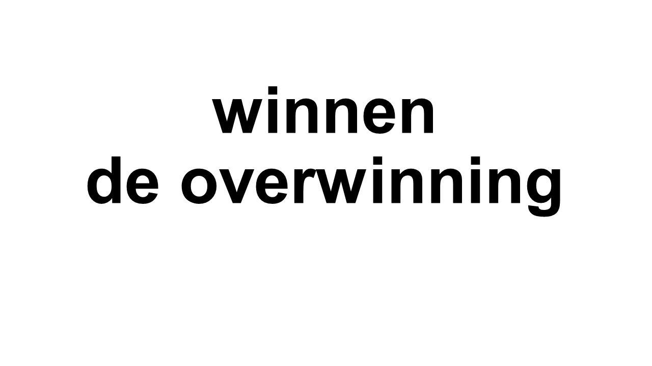 winnen de overwinning