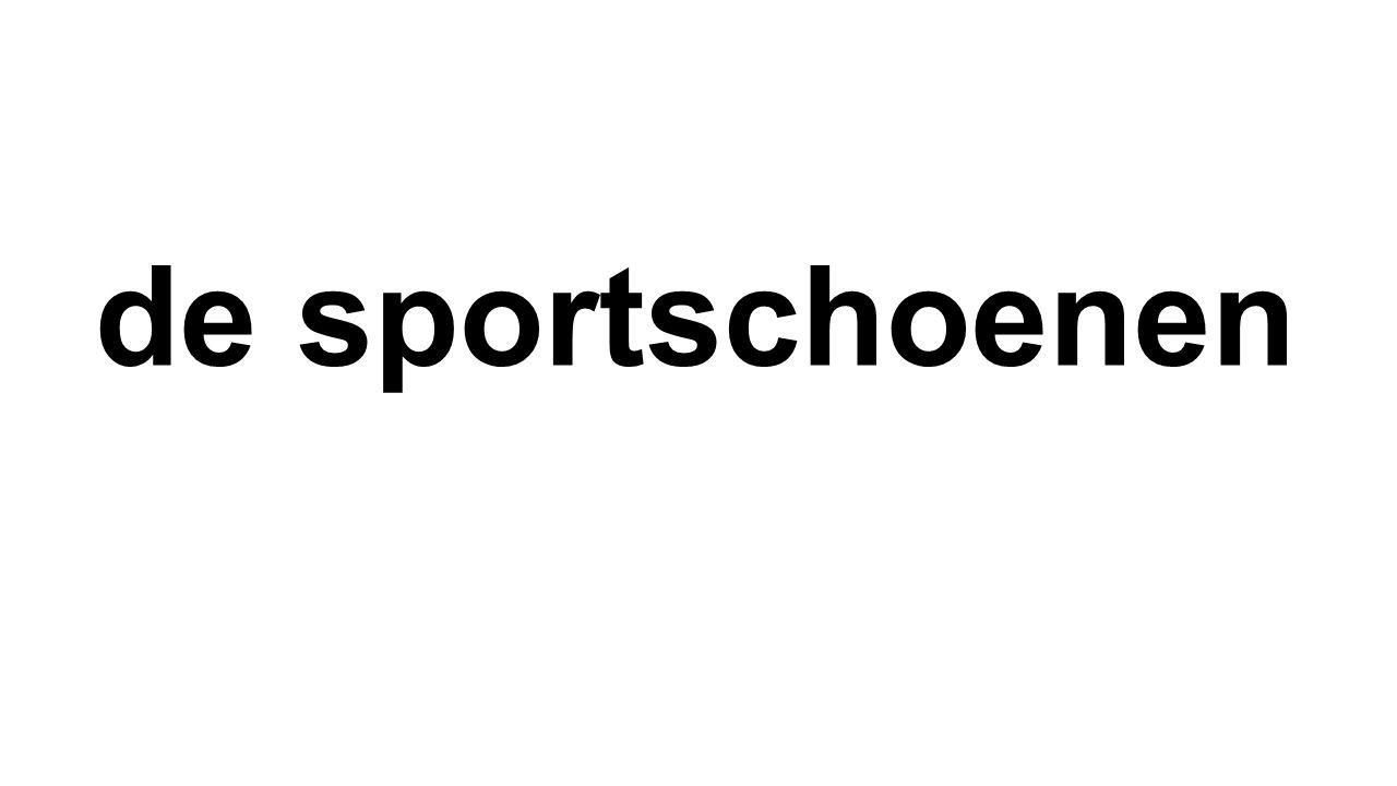 de sportschoenen