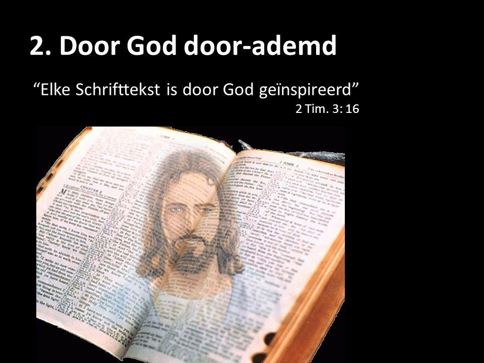 """""""Elke Schrifttekst is door God geïnspireerd"""" 2 Tim. 3: 16"""