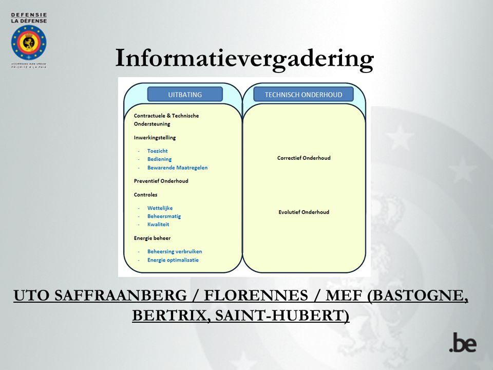 UTO SAFFRAANBERG / FLORENNES / MEF (BASTOGNE, BERTRIX, SAINT-HUBERT) Informatievergadering