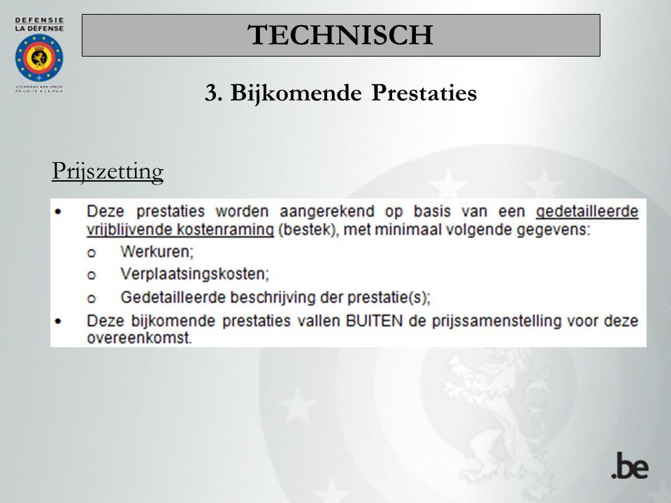 3. Bijkomende Prestaties Prijszetting TECHNISCH