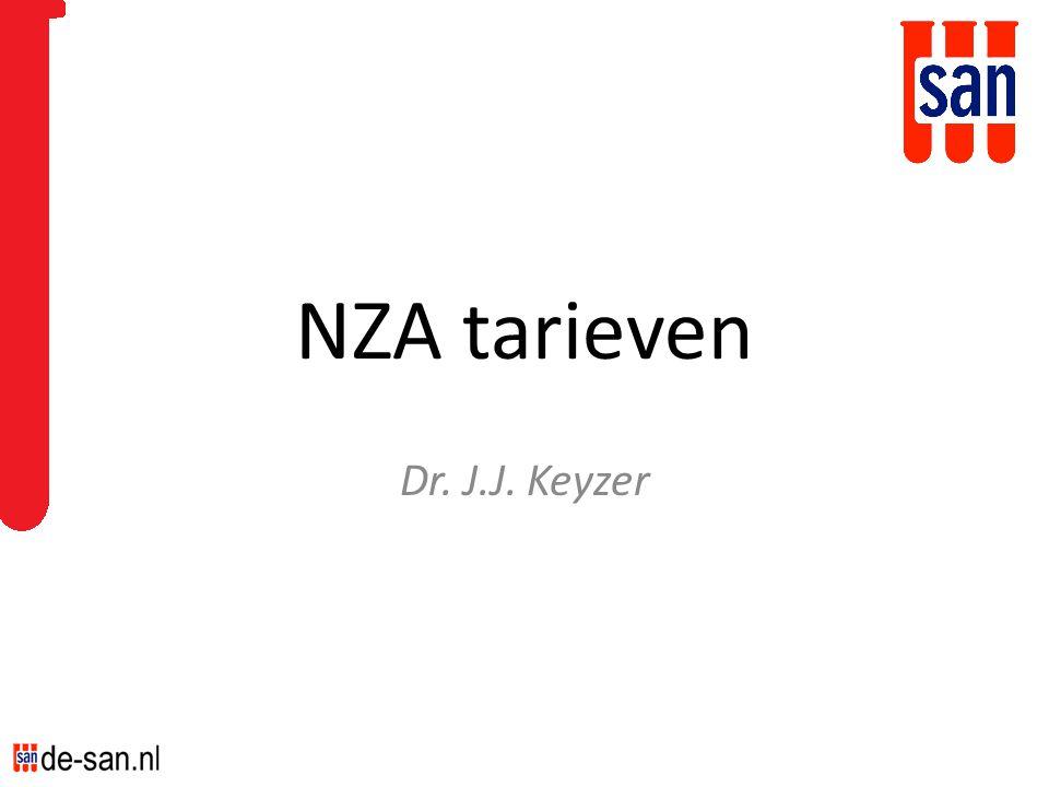 NZA tarieven Dr. J.J. Keyzer
