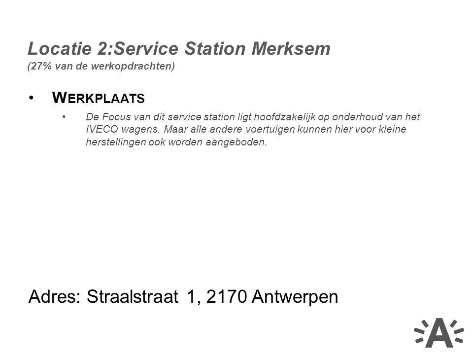W ERKPLAATS De Focus van dit service station ligt hoofdzakelijk op onderhoud van het IVECO wagens.