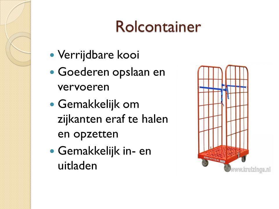 Rolcontainer Verrijdbare kooi Goederen opslaan en vervoeren Gemakkelijk om zijkanten eraf te halen en opzetten Gemakkelijk in- en uitladen