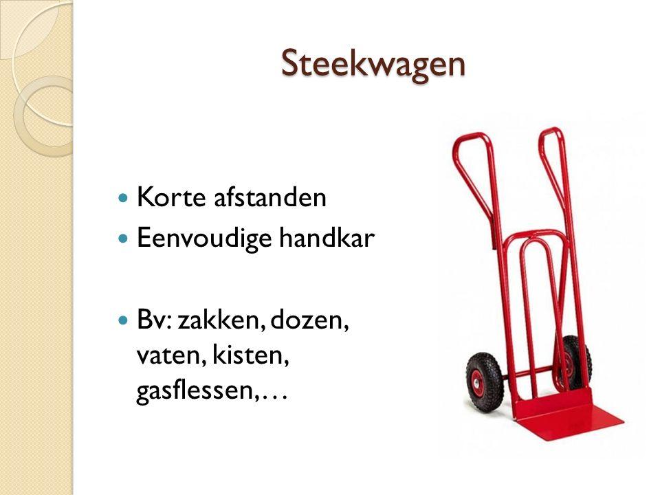 Steekwagen Korte afstanden Eenvoudige handkar Bv: zakken, dozen, vaten, kisten, gasflessen,…