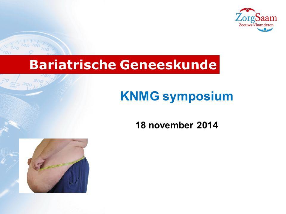 Bariatrische Geneeskunde KNMG symposium 18 november 2014