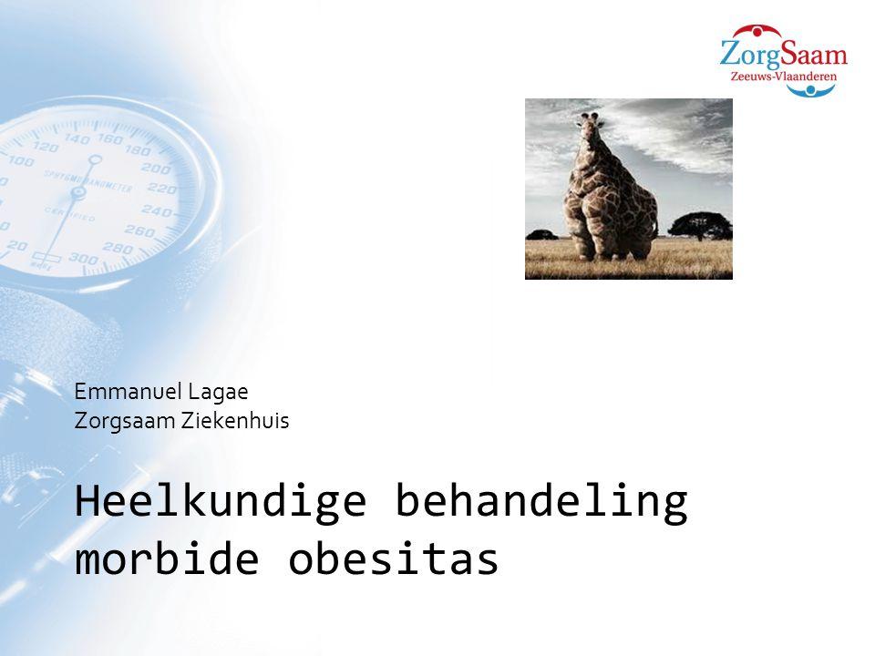 Heelkundige behandeling morbide obesitas Emmanuel Lagae Zorgsaam Ziekenhuis
