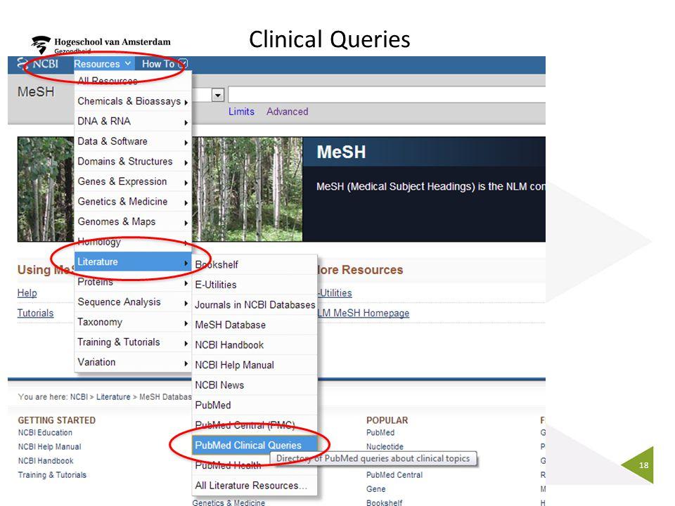 18 Clinical Queries