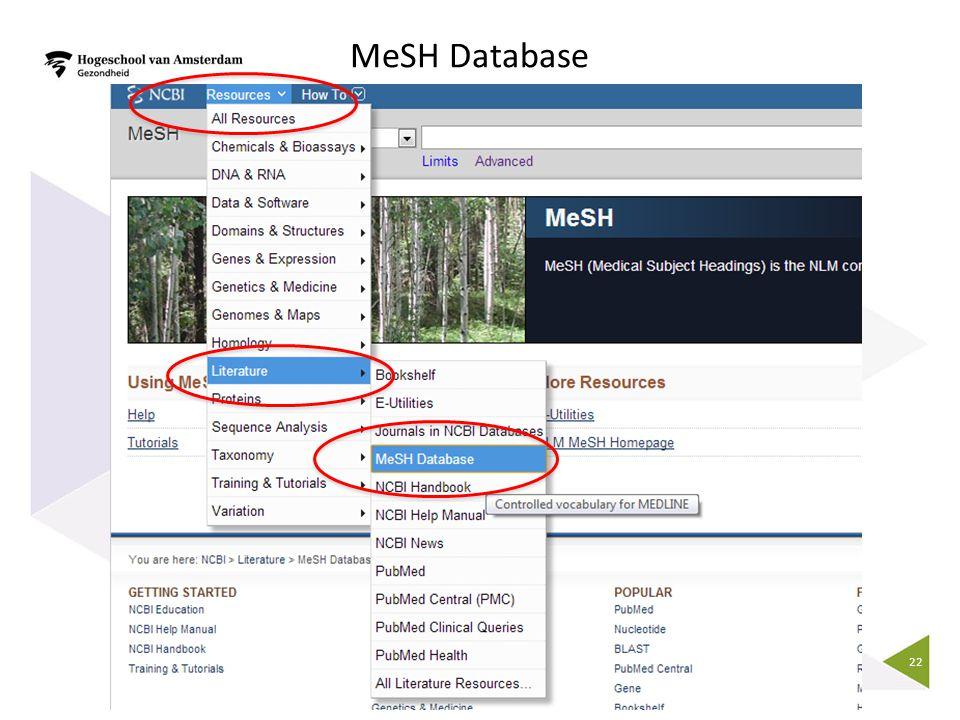 22 MeSH Database